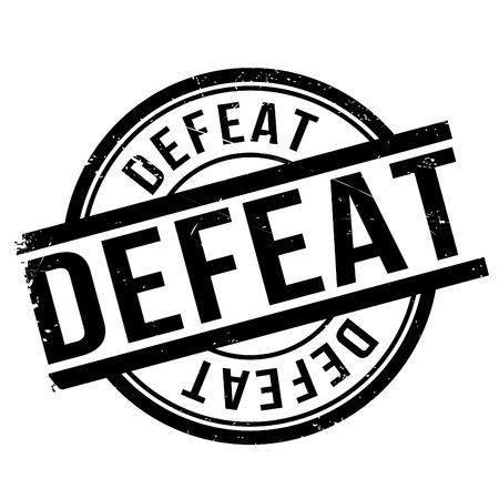 Defeat stamp. Grunge design with dust scratches. Effects can be easily removed for a clean, crisp look. Color is easily changed.