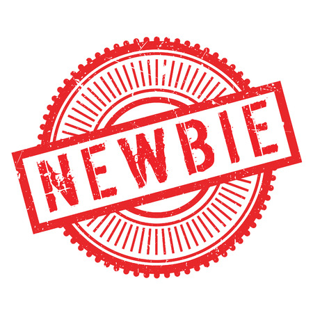 newcomer: Newbie stamp. Grunge design with dust scratches. Effects can be easily removed for a clean, crisp look. Color is easily changed. Illustration