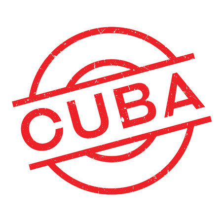 Cuba rubber stamp. Grunge design with dust scratches. Effects can be easily removed for a clean, crisp look. Color is easily changed.