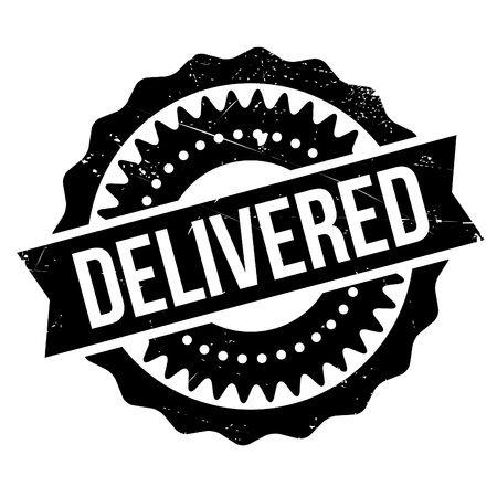 delivered: Delivered stamp. Grunge design with dust scratches. Effects can be easily removed for a clean, crisp look. Color is easily changed.