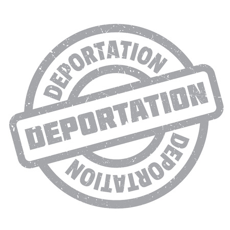 displacement: Deportation rubber stamp. Grunge design with dust scratches. Effects can be easily removed for a clean, crisp look. Color is easily changed.