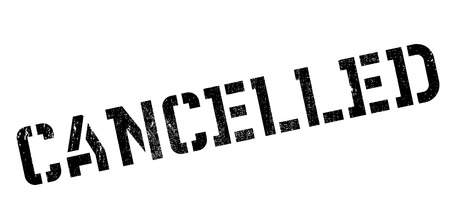cancelled: Cancelled rubber stamp. Grunge design with dust scratches. Effects can be easily removed for a clean, crisp look. Color is easily changed.