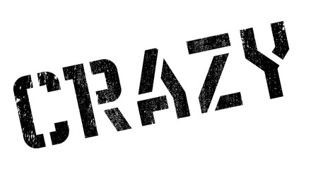 lunatic: Crazy stamp. Grunge design with dust scratches. Effects can be easily removed for a clean, crisp look. Color is easily changed.
