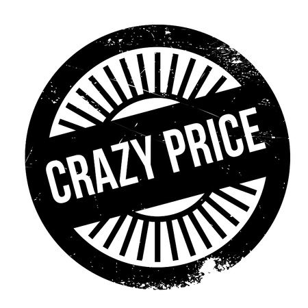 lunatic: Crazy price stamp. Grunge design with dust scratches. Effects can be easily removed for a clean, crisp look. Color is easily changed.