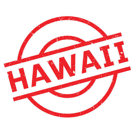 Hawaii rubber stamp. Grunge design with dust scratches. Effects can be easily removed for a clean, crisp look. Color is easily changed.