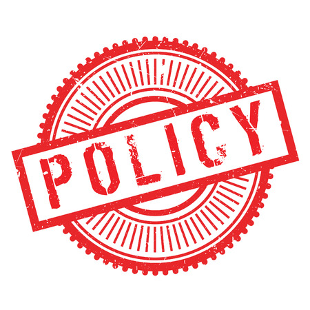 domestic policy: Policy stamp. Grunge design with dust scratches. Effects can be easily removed for a clean, crisp look. Color is easily changed.