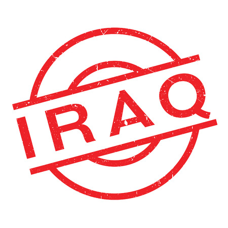 Iraq rubber stamp. Grunge design with dust scratches. Effects can be easily removed for a clean, crisp look. Color is easily changed.