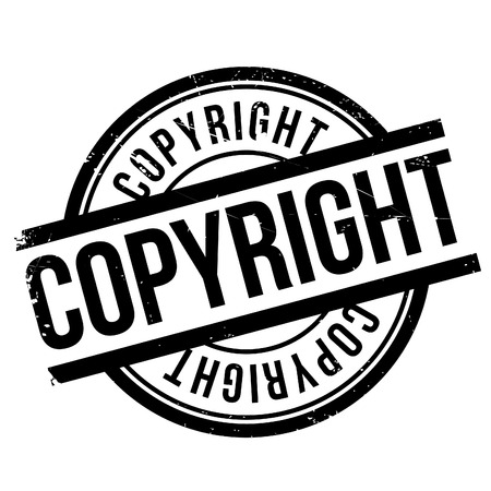 Copyright stamp. Grunge design with dust scratches. Effects can be easily removed for a clean, crisp look. Color is easily changed.