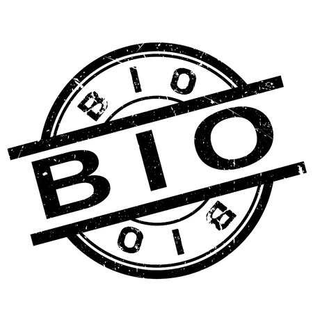 coarse: Bio stamp. Grunge design with dust scratches. Effects can be easily removed for a clean, crisp look. Color is easily changed. Illustration