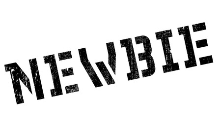 newbie: Newbie stamp. Grunge design with dust scratches. Effects can be easily removed for a clean, crisp look. Color is easily changed. Illustration