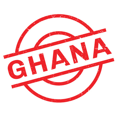 Ghana rubber stamp. Grunge design with dust scratches. Effects can be easily removed for a clean, crisp look. Color is easily changed.