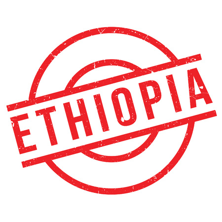 Ethiopia rubber stamp. Grunge design with dust scratches. Effects can be easily removed for a clean, crisp look. Color is easily changed.