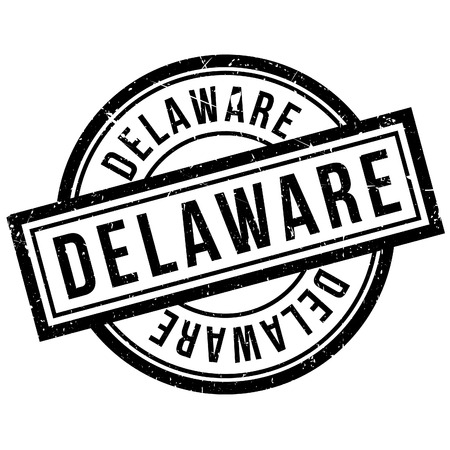 imprinted: Delaware rubber stamp. Grunge design with dust scratches. Effects can be easily removed for a clean, crisp look. Color is easily changed. Illustration