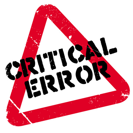 Critical error rubber stamp. Grunge design with dust scratches. Effects can be easily removed for a clean, crisp look. Color is easily changed. Illustration