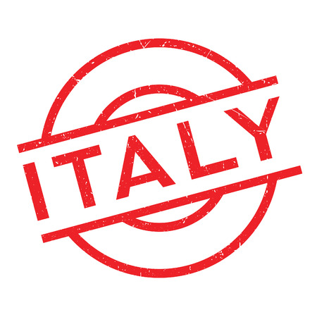 Italy rubber stamp. Grunge design with dust scratches. Effects can be easily removed for a clean, crisp look. Color is easily changed. Illustration