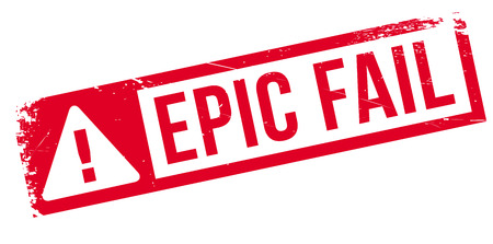 epic: Epic fail rubber stamp. Grunge design with dust scratches. Effects can be easily removed for a clean, crisp look. Color is easily changed.