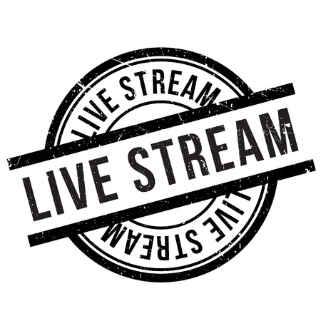 prevailing: Live stream stamp. Grunge design with dust scratches. Effects can be easily removed for a clean, crisp look. Color is easily changed. Illustration