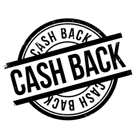 Cash back stamp. Grunge design with dust scratches. Effects can be easily removed for a clean, crisp look. Color is easily changed. Illustration