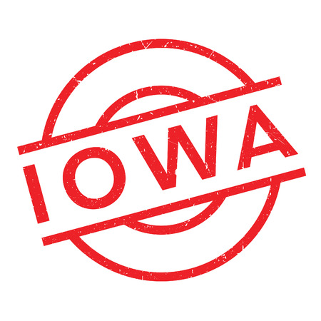 Iowa rubber stamp. Grunge design with dust scratches. Effects can be easily removed for a clean, crisp look. Color is easily changed.