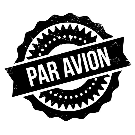Par avion stamp. Grunge design with dust scratches. Effects can be easily removed for a clean, crisp look. Color is easily changed.