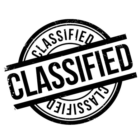 Classified stamp. Grunge design with dust scratches. Effects can be easily removed for a clean, crisp look. Color is easily changed.