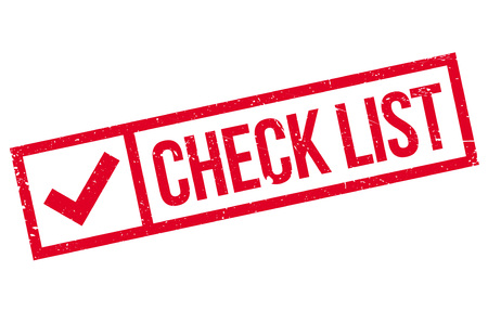 revise: Check list stamp. Grunge design with dust scratches. Effects can be easily removed for a clean, crisp look. Color is easily changed. Illustration