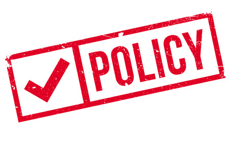 Policy stamp. Grunge design with dust scratches. Effects can be easily removed for a clean, crisp look. Color is easily changed.