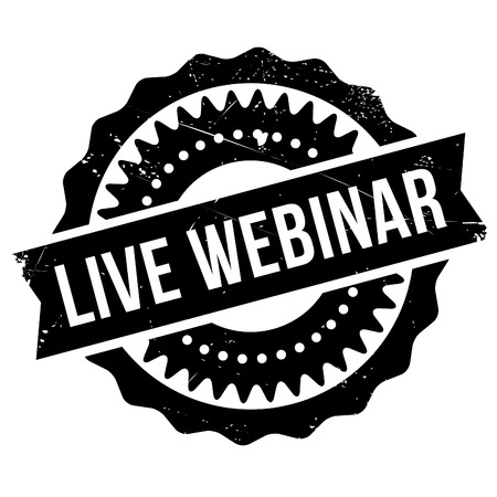 Live webinar stamp. Grunge design with dust scratches. Effects can be easily removed for a clean, crisp look. Color is easily changed. Illustration