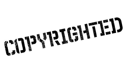 Copyrighted stamp. Grunge design with dust scratches. Effects can be easily removed for a clean, crisp look. Color is easily changed.