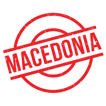 imprinted: Macedonia rubber stamp. Grunge design with dust scratches. Effects can be easily removed for a clean, crisp look. Color is easily changed.