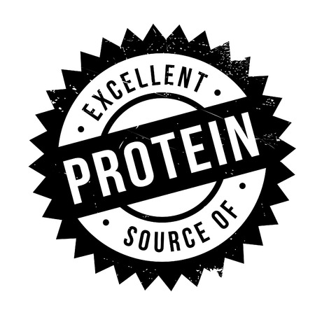 Excellent source of protein stamp. Grunge design with dust scratches. Effects can be easily removed for a clean, crisp look. Color is easily changed. Illustration