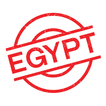 Egypt rubber stamp. Grunge design with dust scratches. Effects can be easily removed for a clean, crisp look. Color is easily changed.