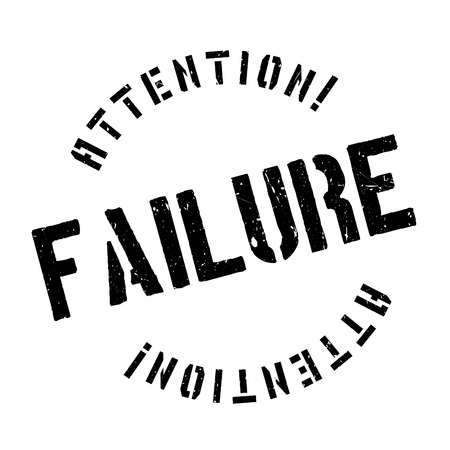 stoppage: Failure rubber stamp. Grunge design with dust scratches. Effects can be easily removed for a clean, crisp look. Color is easily changed. Illustration