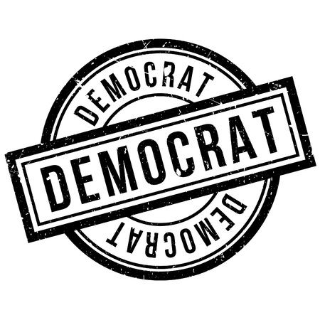 liberal: Democrat rubber stamp. Grunge design with dust scratches. Effects can be easily removed for a clean, crisp look. Color is easily changed. Illustration