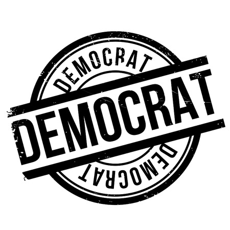 elective: Democrat stamp. Grunge design with dust scratches. Effects can be easily removed for a clean, crisp look. Color is easily changed.