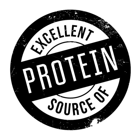 advertiser: Excellent source of protein stamp. Grunge design with dust scratches. Effects can be easily removed for a clean, crisp look. Color is easily changed. Stock Photo