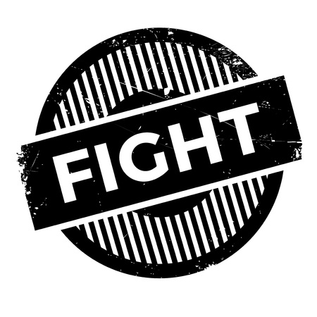 Fight rubber stamp. Grunge design with dust scratches. Effects can be easily removed for a clean, crisp look. Color is easily changed. Illustration