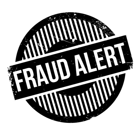 trickery: Fraud alert rubber stamp. Grunge design with dust scratches. Effects can be easily removed for a clean, crisp look. Color is easily changed. Illustration