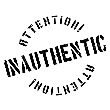 counterfeit: Inauthentic rubber stamp. Grunge design with dust scratches. Effects can be easily removed for a clean, crisp look. Color is easily changed. Illustration