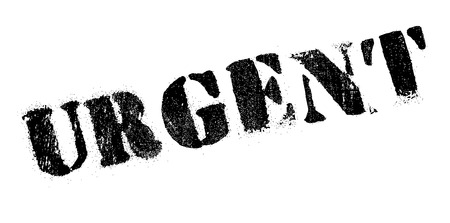 persuasive: Urgent rubber stamp. Grunge design with dust scratches. Effects can be easily removed for a clean, crisp look. Color is easily changed. Illustration