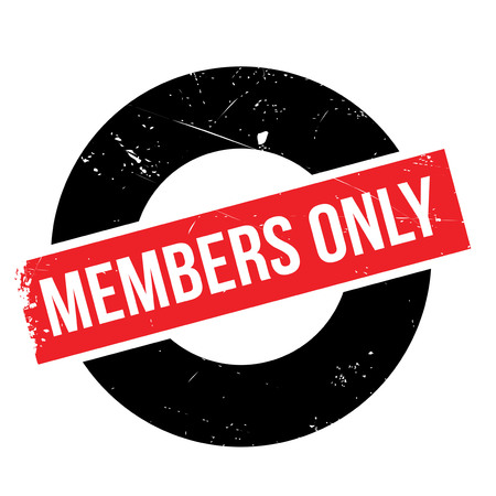 solely: Members only rubber stamp. Grunge design with dust scratches. Effects can be easily removed for a clean, crisp look. Color is easily changed.