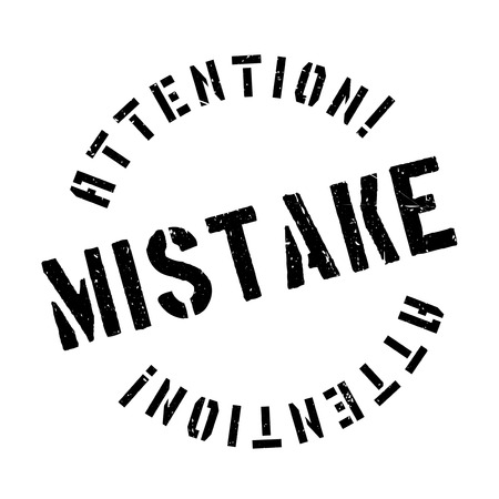 gaffe: Mistake rubber stamp. Grunge design with dust scratches. Effects can be easily removed for a clean, crisp look. Color is easily changed.