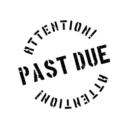 owing: Past due rubber stamp. Grunge design with dust scratches. Effects can be easily removed for a clean, crisp look. Color is easily changed.