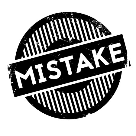 omission: Mistake rubber stamp. Grunge design with dust scratches. Effects can be easily removed for a clean, crisp look. Color is easily changed.