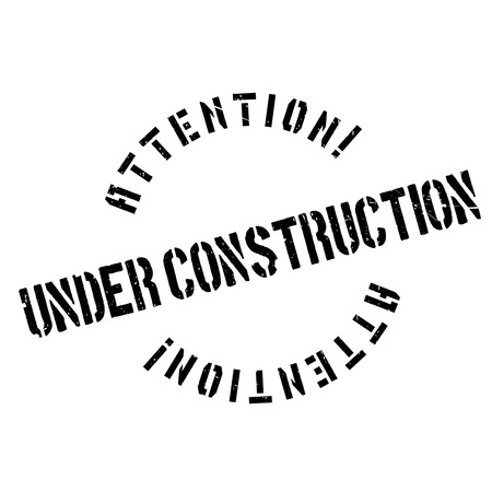 inadequate: Under construction rubber stamp. Grunge design with dust scratches. Effects can be easily removed for a clean, crisp look. Color is easily changed. Illustration