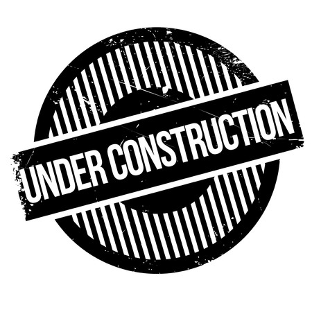 insufficient: Under construction rubber stamp. Grunge design with dust scratches. Effects can be easily removed for a clean, crisp look. Color is easily changed. Illustration