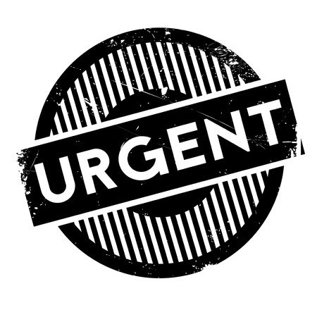 demanded: Urgent rubber stamp. Grunge design with dust scratches. Effects can be easily removed for a clean, crisp look. Color is easily changed. Illustration