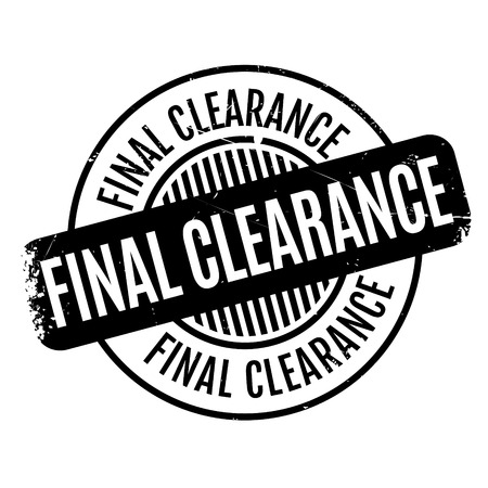 cheaper: Final Clearance rubber stamp. Grunge design with dust scratches. Effects can be easily removed for a clean, crisp look. Color is easily changed.