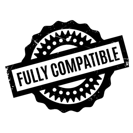 fully: Fully Compatible rubber stamp. Grunge design with dust scratches. Effects can be easily removed for a clean, crisp look. Color is easily changed. Illustration