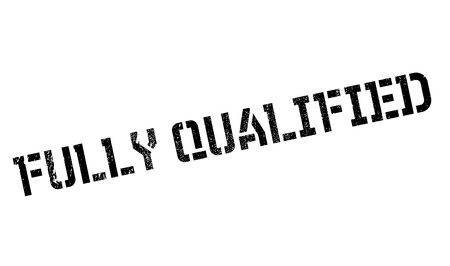 fully: Fully Qualified rubber stamp. Grunge design with dust scratches. Effects can be easily removed for a clean, crisp look. Color is easily changed.